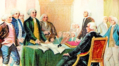 July 4, 1776—The text is unanimously agreed to by the Continental Congress