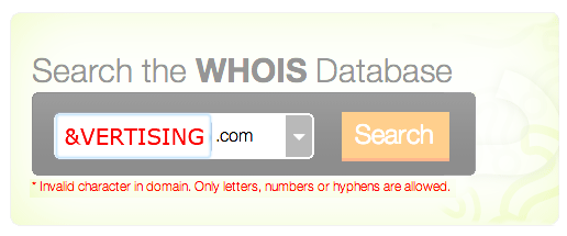 WHO IS &vertising.com?