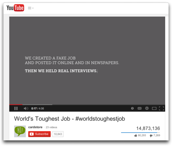 World's Toughest Job You Tube Video